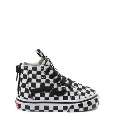 Main view of Vans Sk8 Hi Zip Full Chex Skate Shoe - Baby / Toddler