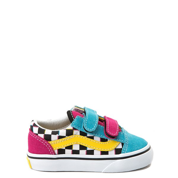 Vans Old Skool V Checkerboard Skate Shoe - Baby / Toddler - Multi