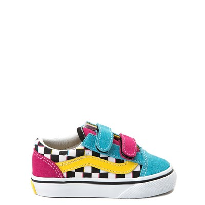 Main view of Vans Old Skool V Checkerboard Skate Shoe - Baby / Toddler - Multi