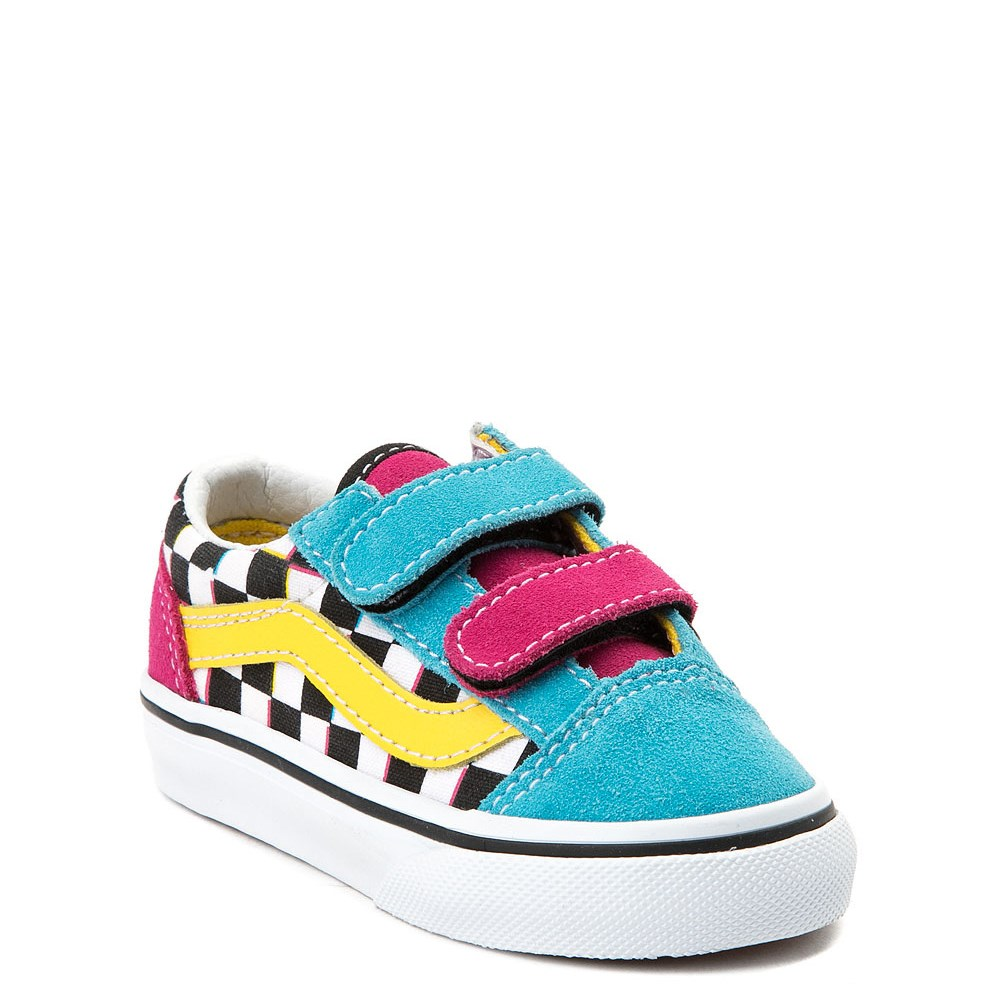 Vans Old Skool V Checkerboard Skate Shoe Baby Toddler Multi