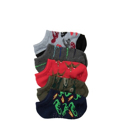 Main view of Boys Toddler Dino Gripper Socks 5 Pack