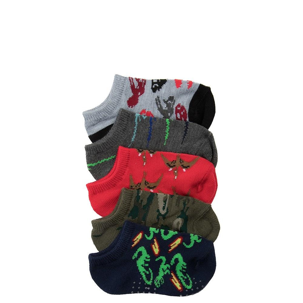 Dino Gripper Socks 5 Pack - Boys Toddler