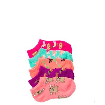 Main view of Girls Toddler Fun Food Glow Socks 5 Pack