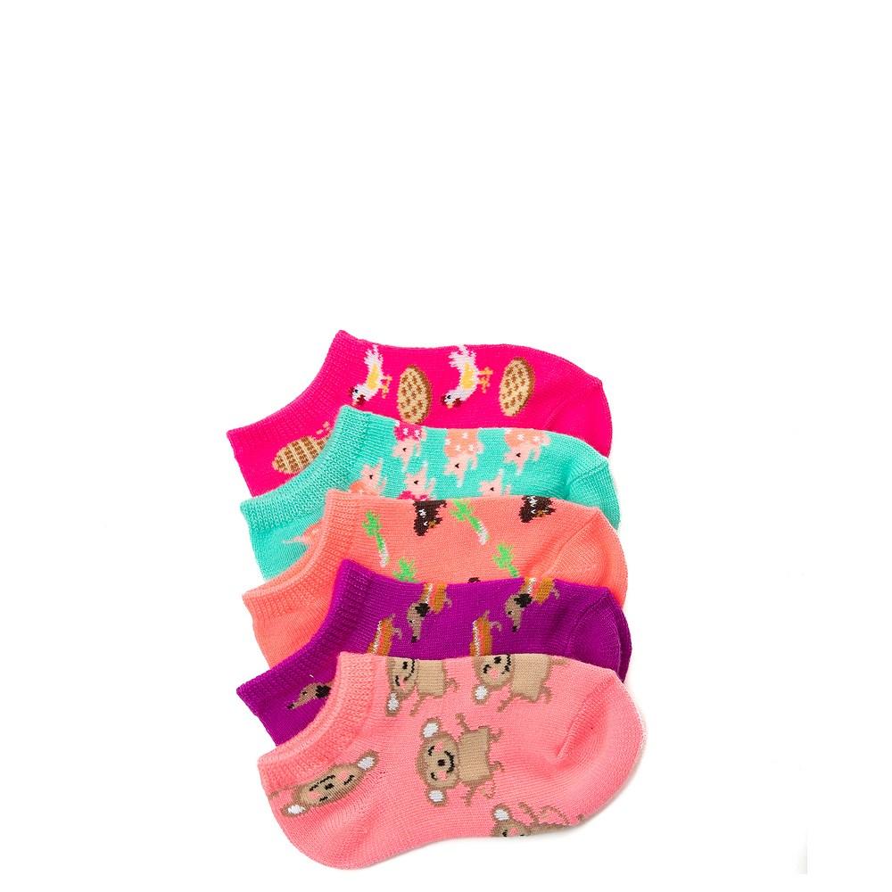 Girls Toddler Fun Food Glow Socks 5 Pack