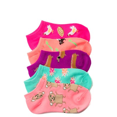 Main view of Fun Food Glow Socks 5 Pack - Girls Little Kid