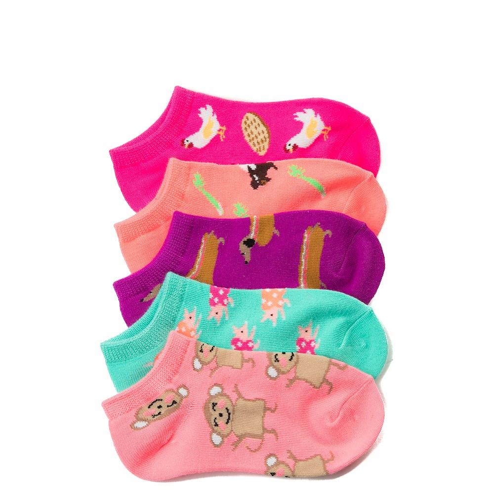 Fun Food Glow Socks 5 Pack - Girls Little Kid