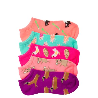 Main view of Fun Food Glow Socks 5 Pack - Girls Big Kid