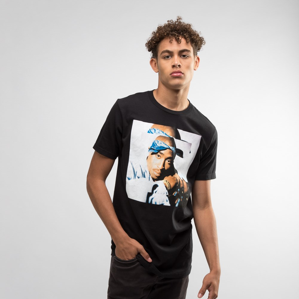 Mens Tupac Double Up Tee