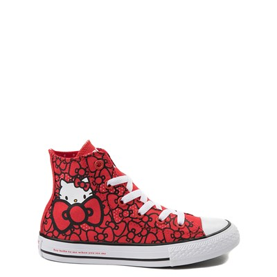 Main view of Youth Converse Chuck Taylor All Star Hi Hello Kitty Bows Sneaker