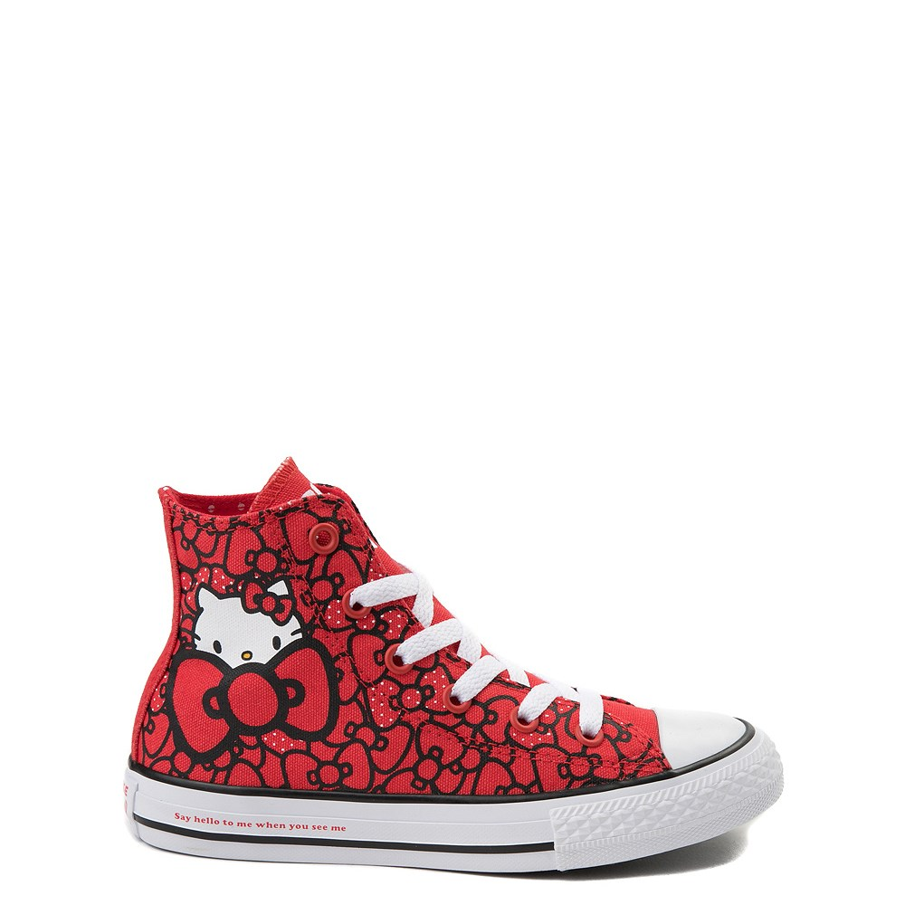 Youth Converse Chuck Taylor All Star Hi Hello Kitty Bows Sneaker