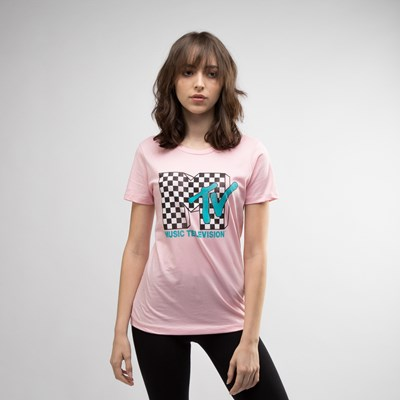 Main view of Womens MTV Logo Boyfriend Tee
