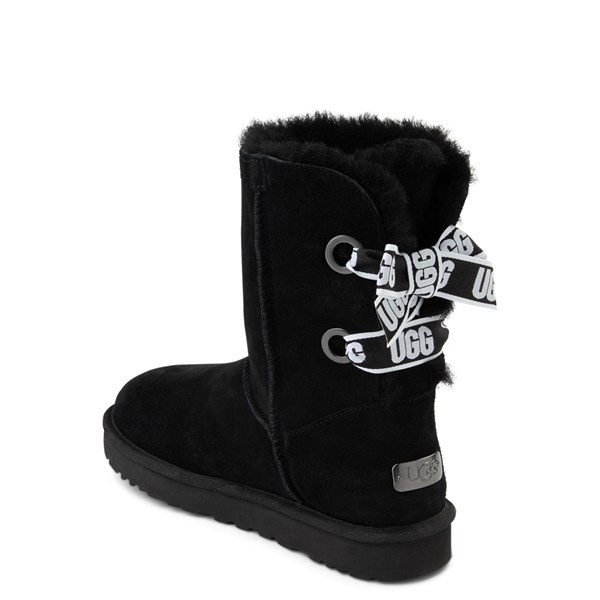 alternate view Womens UGG® Customizable Bailey Bow II Boot - BlackALT2