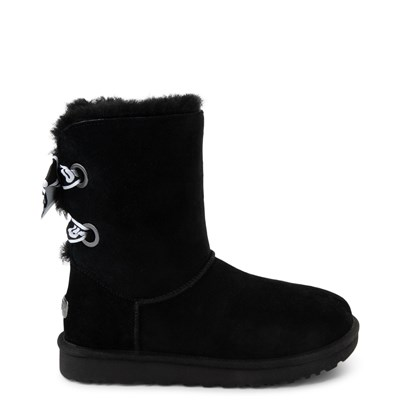 Main view of Womens UGG® Customizable Bailey Bow II Boot - Black