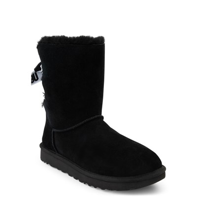 Alternate view of Womens UGG® Customizable Bailey Bow II Boot - Black