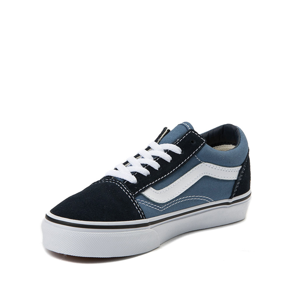 alternate view Vans Old Skool Skate Shoe - Little Kid - Blue / NavyALT2