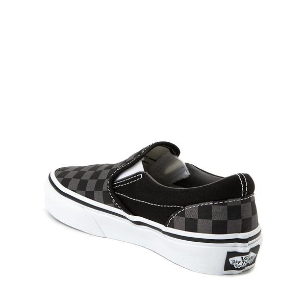 alternate view Vans Slip On Checkerboard Skate Shoe - Little Kid - Black / GrayALT1
