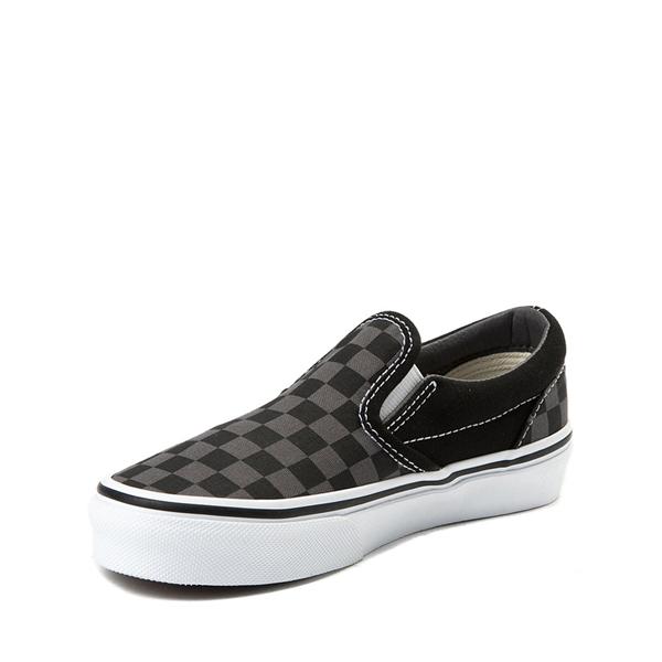 alternate view Vans Slip On Checkerboard Skate Shoe - Little Kid - Black / GrayALT2