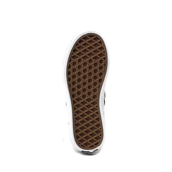 alternate view Vans Slip On Checkerboard Skate Shoe - Little Kid - Black / GrayALT3