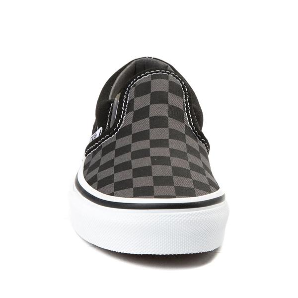 alternate view Vans Slip On Checkerboard Skate Shoe - Little Kid - Black / GrayALT4