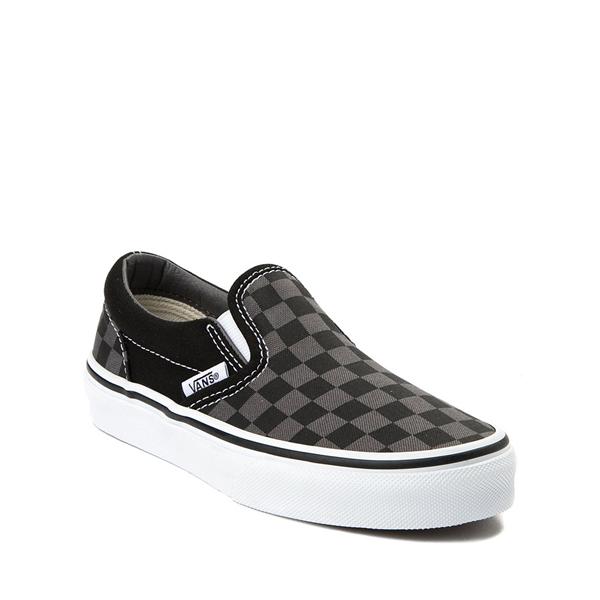 alternate view Vans Slip On Checkerboard Skate Shoe - Little Kid - Black / GrayALT5