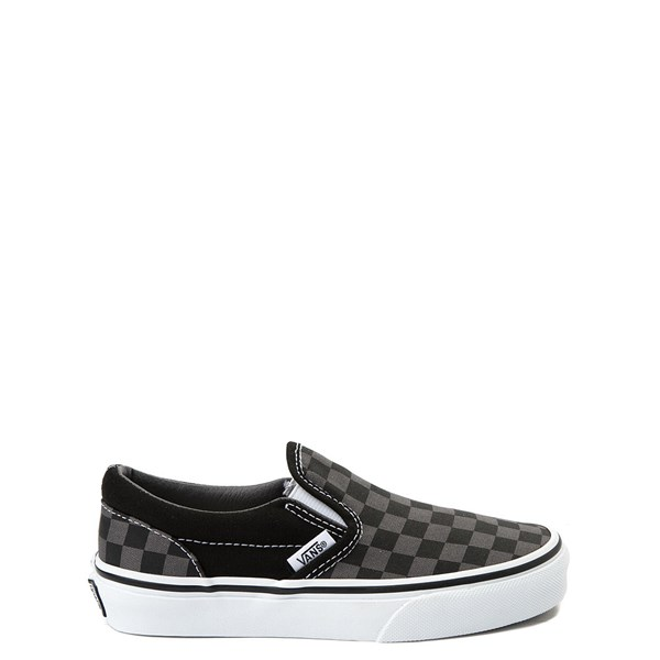 Default view of Vans Slip On Checkerboard Skate Shoe - Little Kid - Black / Gray