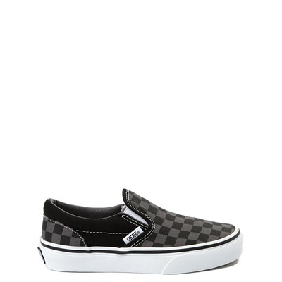 Youth Vans Slip On Black and Gray Chex Skate Shoe