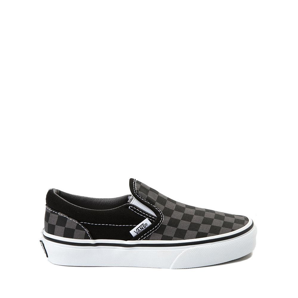 Vans Slip On Checkerboard Skate Shoe - Little Kid - Black / Gray