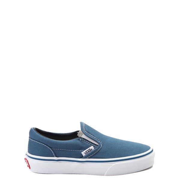 Vans Slip On Skate Shoe - Little Kid / Big Kid - Navy / White