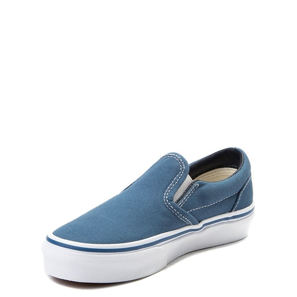 alternate view Vans Slip On Skate Shoe - Little Kid / Big Kid - NavyALT3