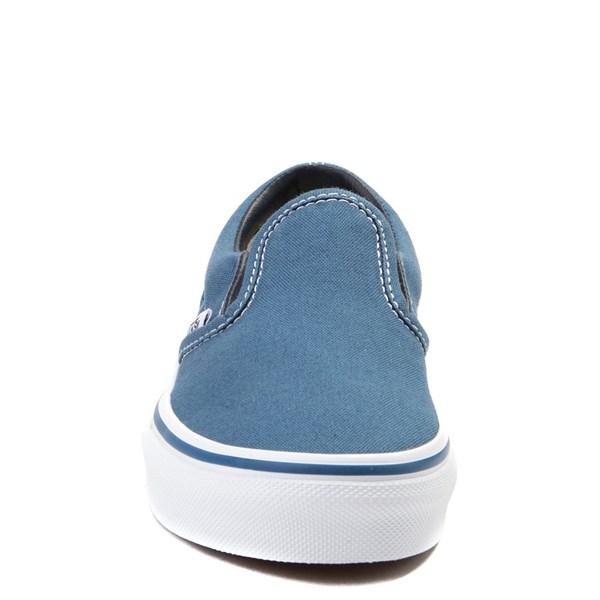 alternate view Vans Slip On Skate Shoe - Little Kid / Big Kid - Navy / WhiteALT4