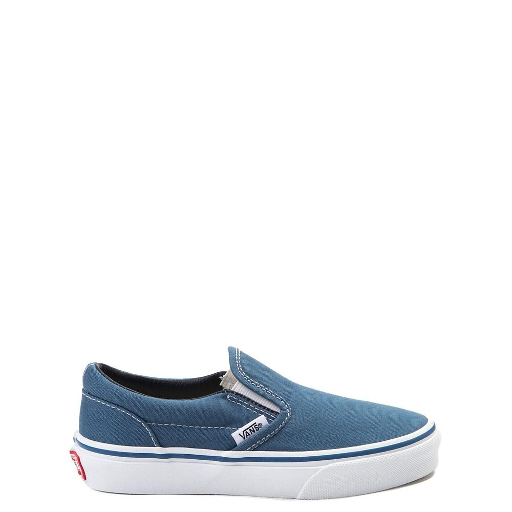 Vans Slip On Skate Shoe - Little Kid / Big Kid - Navy / White