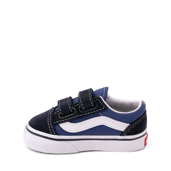 alternate view Vans Old Skool V Skate Shoe - Baby / Toddler - Blue / NavyALT1