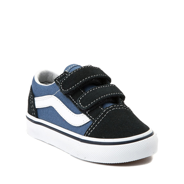 alternate view Vans Old Skool V Skate Shoe - Baby / Toddler - Blue / NavyALT5