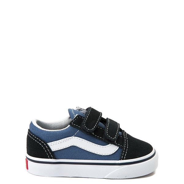 Main view of Vans Old Skool V Skate Shoe - Baby / Toddler - Blue / Navy