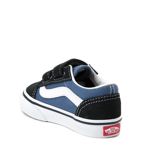 alternate view Vans Old Skool V Skate Shoe - Baby / Toddler - Blue / NavyALT2