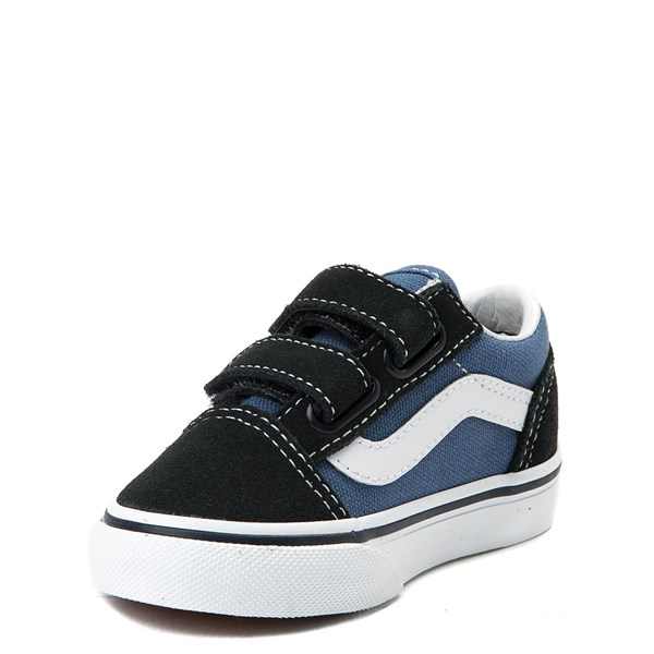 alternate view Vans Old Skool V Skate Shoe - Baby / Toddler - Blue / NavyALT3