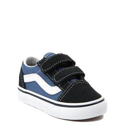 Alternate view of Vans Old Skool V Skate Shoe - Baby / Toddler - Blue / Navy