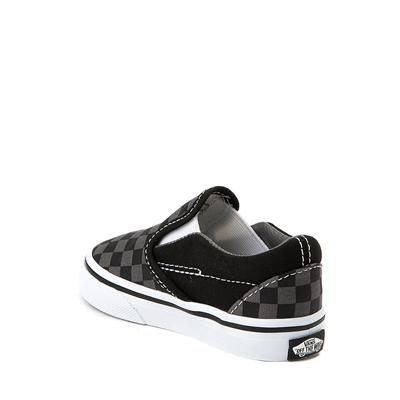 Alternate view of Vans Slip On Checkerboard Skate Shoe - Baby / Toddler - Black / Gray
