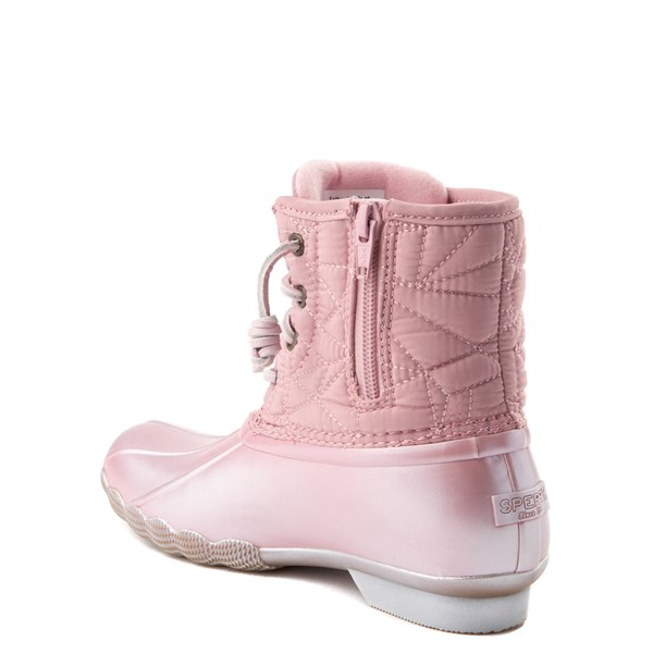 alternate view Sperry Top-Sider Saltwater Boot - Little Kid / Big Kid - BlushALT2