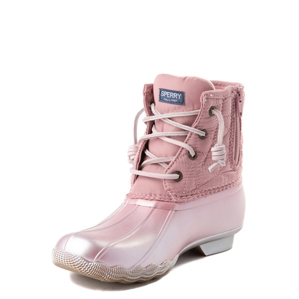 alternate view Sperry Top-Sider Saltwater Boot - Little Kid / Big Kid - BlushALT3