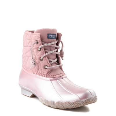 Alternate view of Sperry Top-Sider Saltwater Boot - Little Kid / Big Kid - Blush