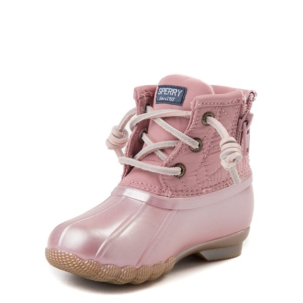 alternate view Sperry Top-Sider Saltwater Boot - Toddler / Little Kid - BlushALT3