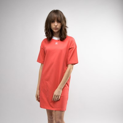 Main view of Womens adidas Trefoil Ringer Dress