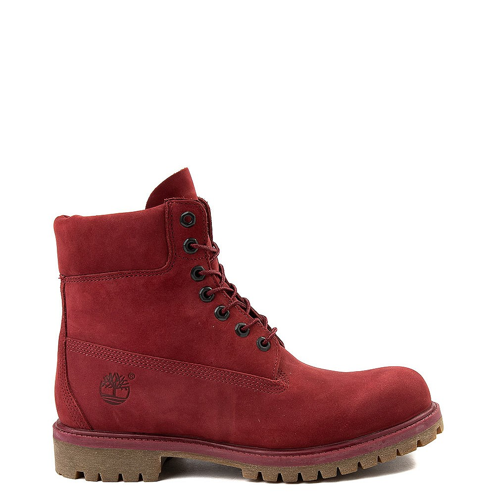 Mens Timberland 6 Inch Classic Boot in Burgundy