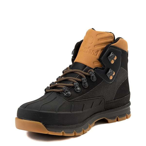 alternate view Mens Timberland Euro Hiker Shell-Toe Jacquard Boot - Black / WheatALT3