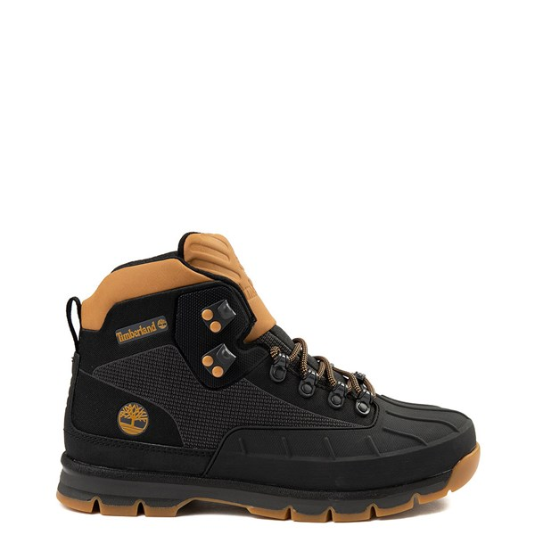 Main view of Mens Timberland Euro Hiker Shell-Toe Jacquard Boot - Black / Wheat