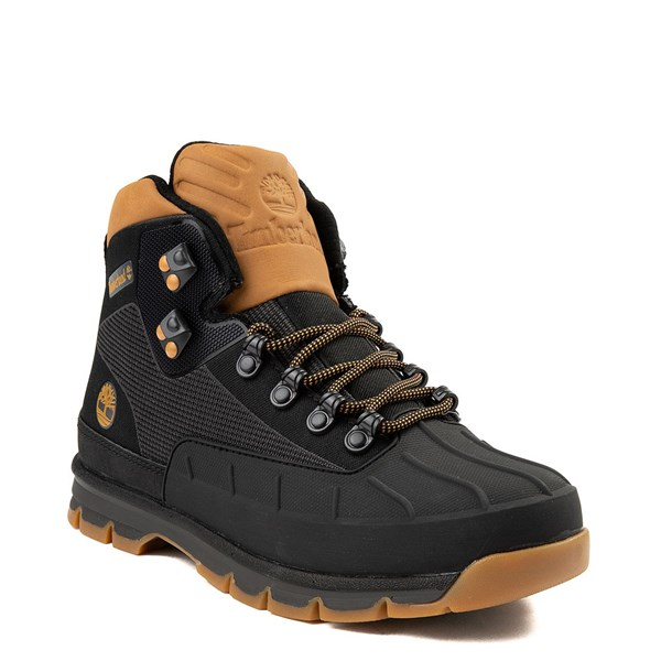 Alternate view of Mens Timberland Euro Hiker Shell-Toe Jacquard Boot - Black / Wheat