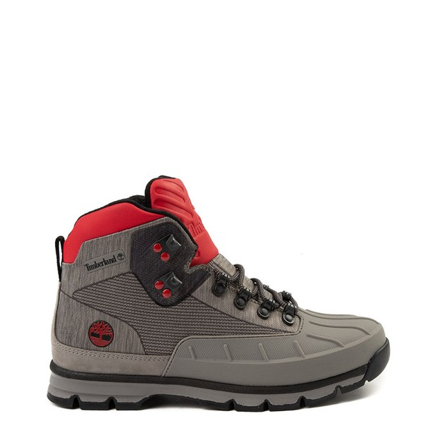 Mens Timberland Euro Hiker Shell-Toe Jacquard Boot - Gray / Red