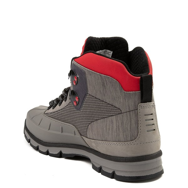 alternate view Mens Timberland Euro Hiker Shell-Toe Jacquard Boot - Gray / RedALT2