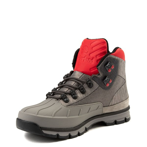 alternate view Mens Timberland Euro Hiker Shell-Toe Jacquard Boot - Gray / RedALT3